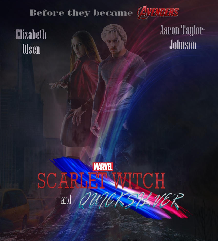 Marvels Scarlet Witch and Quicksilver Poster by Art-Master-1983
