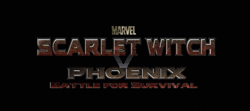 marvel: scarlet witch v phoenix movie logoart-master-1983 on