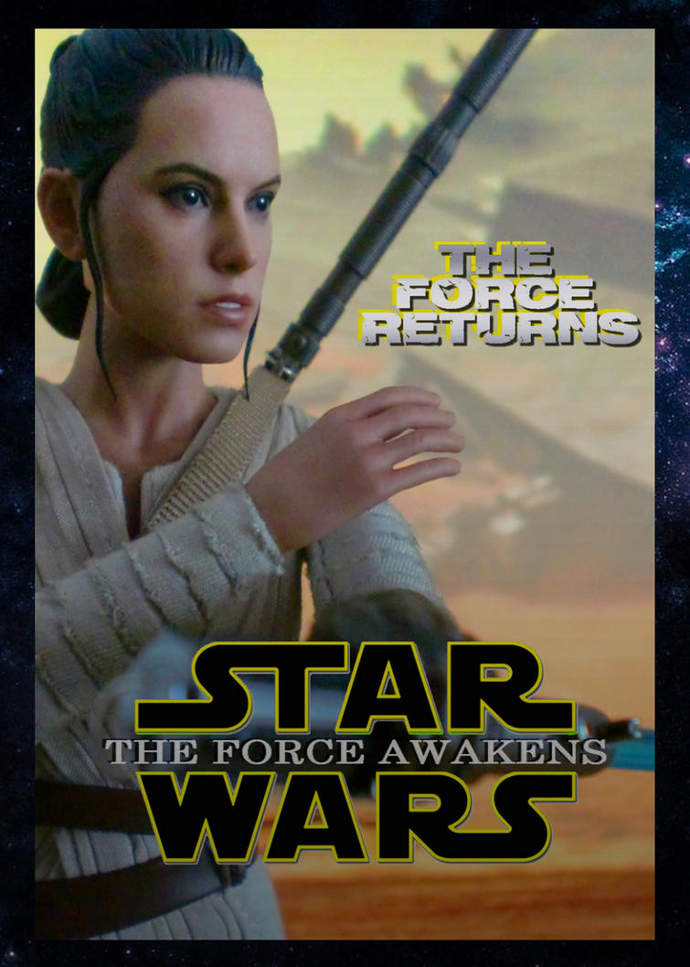 Star Wars: The Force Awakens Rey Poster by Art-Master-1983