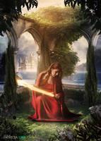 Divine sword by PatriciaLira