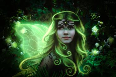 Green fairy by PatriciaLira