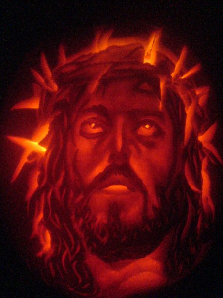jesus christ its a pumpkin by simondrawme