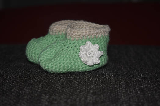 Babyshoes with flower