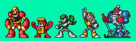 Mega Man 7 Robot Museum Robots coloured by geno2925