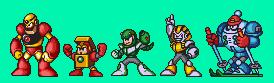 Mega Man 7 Robot Museum Robots coloured by geno2925