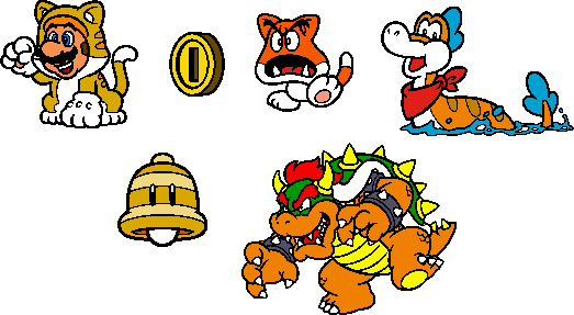Coloured SM3DW World 1 Stamps by geno2925 on DeviantArt