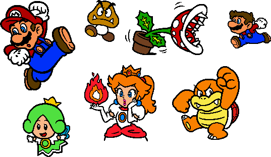 Coloured SM3DW World 2 Stamps by geno2925 on DeviantArt