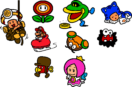 Coloured SM3DW World 6 Stamps by geno2925 on deviantART