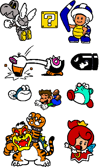 Coloured SM3DW World 8 Stamps by geno2925 on DeviantArt
