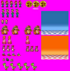 Super Mario All-Stars Title Screen Characters