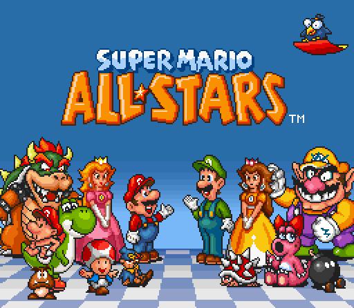 Super Mario All Stars Title Edit By Geno2925 On DeviantArt