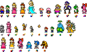 Custom 8-bit Mario Characters