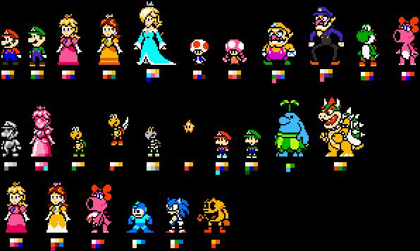 Custom 8-bit Mario Characters by geno2925 on DeviantArt