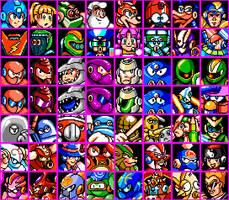 Mega Man Misc. Game Character Mugshots by geno2925