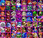 Mega Man Misc. Game Character Mugshots
