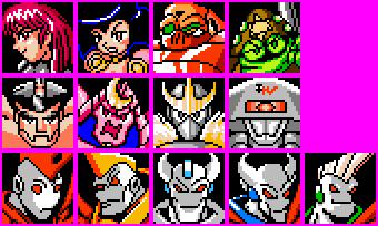 Novas Aventuras de Mega Man Character Mugshots by geno2925