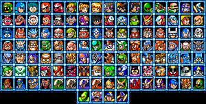 MM8BDMv5 Character Select Screen