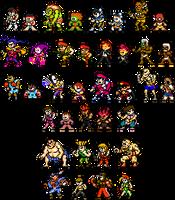 Street Fighter x Mega Man Improved Sprites by geno2925