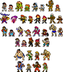 Street Fighter x Mega Man Improved Sprites