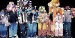 Kuroko no Basket x Pokemon Cross-over by BastisHasi