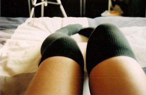 фото ступней девушек в носочках