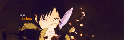 [Crossover!] The One-winged Angel versus the Dragon Slayers! Izaya_Orihara_Signature_by_Uni_Bunneh2