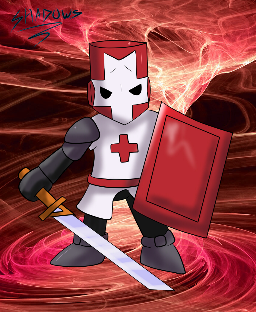 Castle crashers red knight by shadows core on deviantart - Castle crashers anime ...