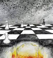 Dark Chessboard by manicrose4443