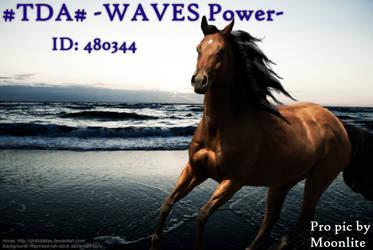 WAVES Power by MoonliteHoofbeats