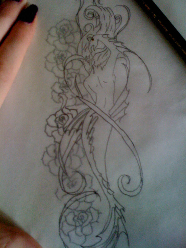 Custom Mermaid Tattoo Design By Kittykat6666 On Deviantart