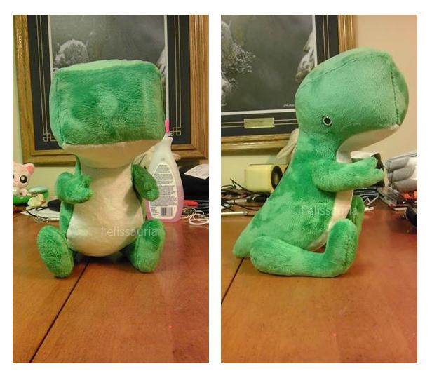 Blockhead Dino by Felissauria