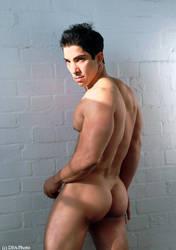 male athlete's backside by artdibujar