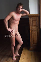 nude man at the window 1 by artdibujar