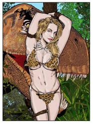Female objectification while being photobombed