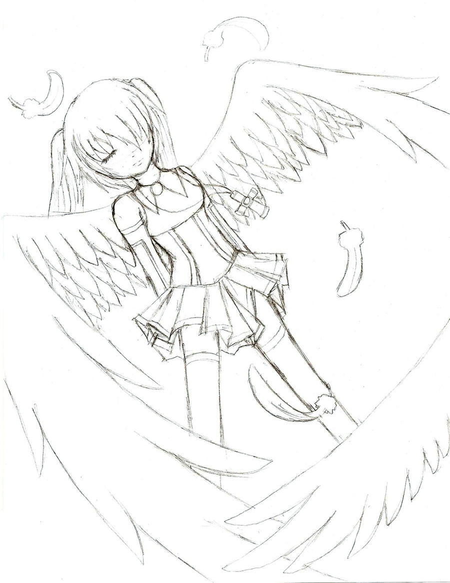 Angel Sketch by LilyL on