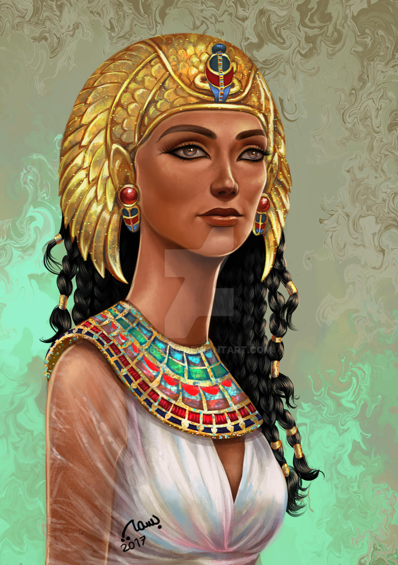 Egyptian queen by bobba88 on DeviantArt