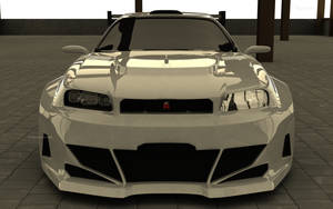 Nissan Skyline GT-R Front by TheSaladMan