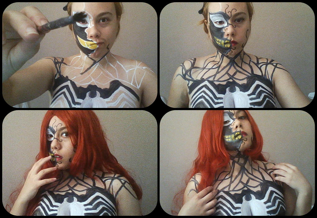 Mary Jane Symbiote Transformation Body Paint #1 by ...