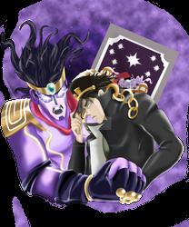 Jotaro and Stardust