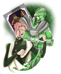 Kakyoin and Hierophant green
