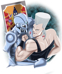 Polnareff and silver chariot