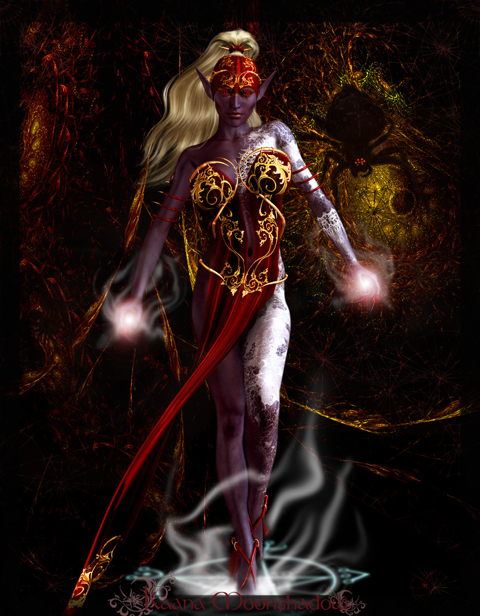 Drow Sorceress by KaanaMoonshadow on DeviantArt