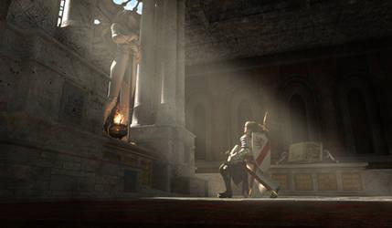 Baerfried, Knight of Rondra by KaanaMoonshadow