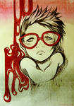 - Red glasses -
