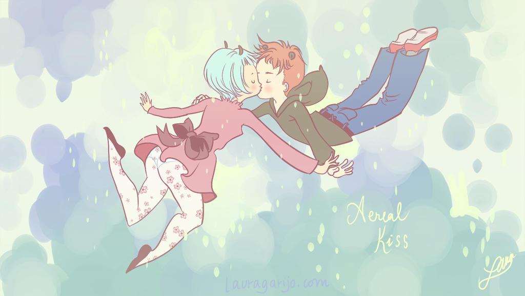 Aerial kiss