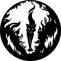 fox fire emblem by vulpescorax