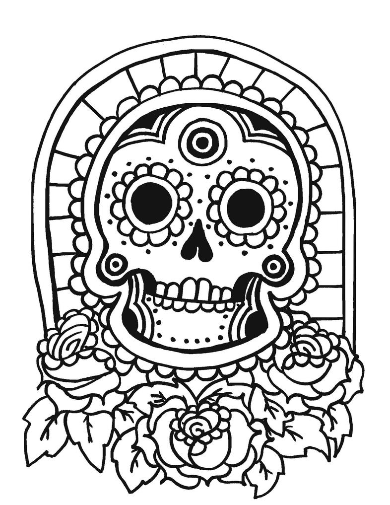 tiki coloring pages - tiki head coloring pages printable coloring pages