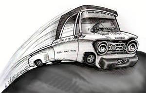 Dragrace Pickup Truck by sethness