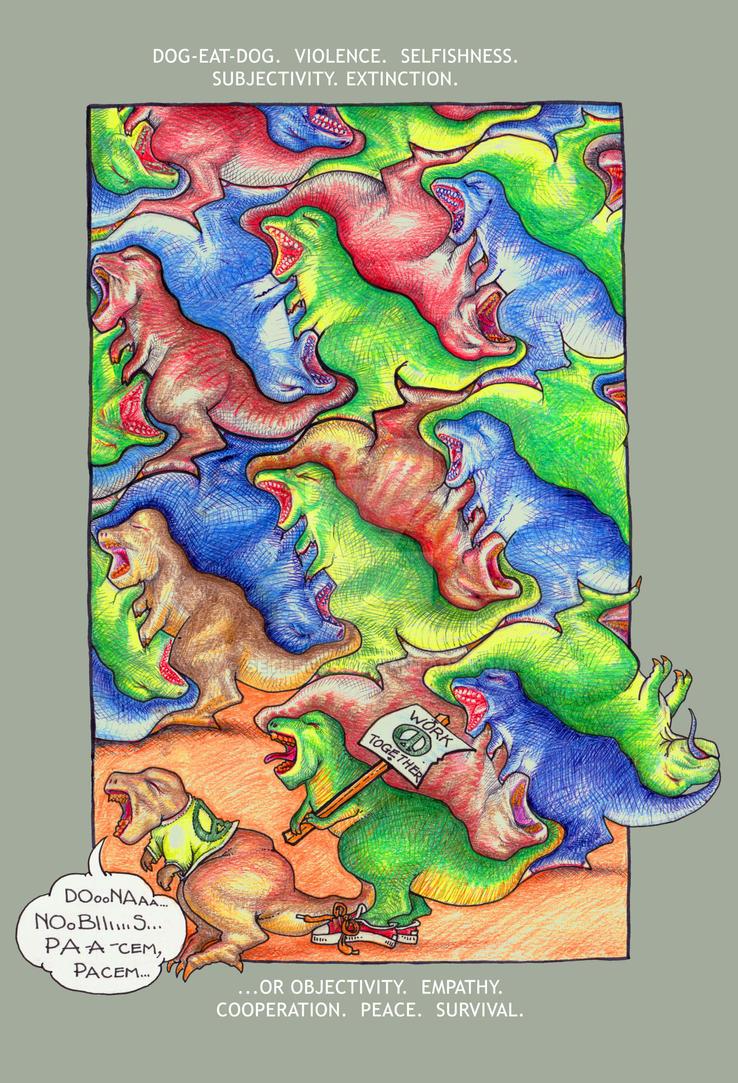 T Rex Tessellation-2 by sethness
