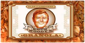 Ambigram of Woody (granola bag label)